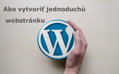 Ako vytvoriť jednoduchú webstránku