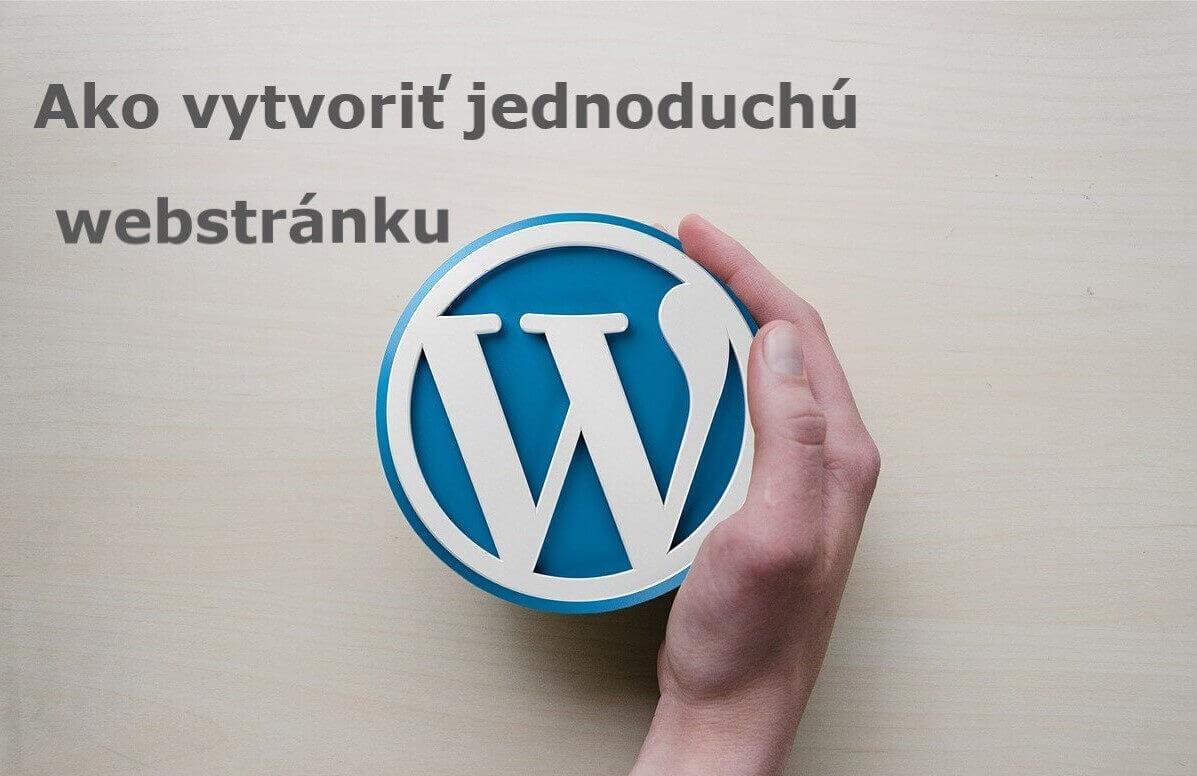 ako vytvorit webstranku